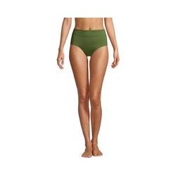 Control-Bikinihose High Waist CHLORRESISTENT, Damen, Größe: XS Normal, Grün, Lycra, by Lands' End, Schnittlauch - XS - Schnittlauch