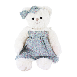Bukowski Kuscheltier Teddybär mit Kleid Bella Sopie 40 cm (Stoffteddybären Plüschteddybären, Stofftiere Teddys)