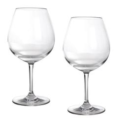 GIMEX Rotweinglas Campinggeschirr Mehrwegglas Rotweinglas aus Kunststoff 250ml (2-tlg)