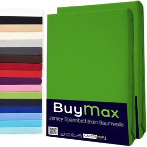 Spannbettlaken 60x120cm Doppelpack 100% Baumwolle Kinderbett Spannbetttuch Bettlaken Jersey, Matratzenhöhe bis 15 cm, Farbe Apfelgrün