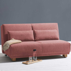 Klappsofa in Rosa Stoff Made in Germany