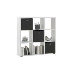 Raumteiler Mega 5 in weiß, 9 Fächer