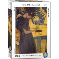 empireposter Puzzle Gustav Klimt - Die Musik - 1000 Teile Puzzle - Format 68x48 cm, 1000 Puzzleteile