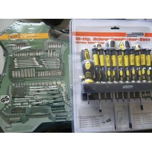 Mannesmann Steckschlüsselsatz Antrieb Werkzeugkoffer plus Schraubendreher Set