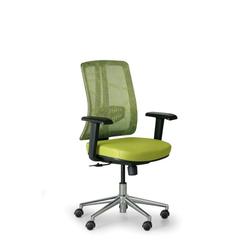 Bürostuhl human, schwarz/grün, stahlkreuz