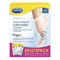 SCHOLL intensiv pflegende Fußmaske in Socken 3X2 St