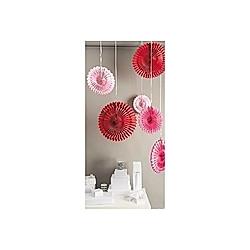 Wabenpapier Blumen, Rosa/Rot, FSC Mix