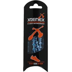 XTENEX Schnürsenkel 75 cm weiß-blau