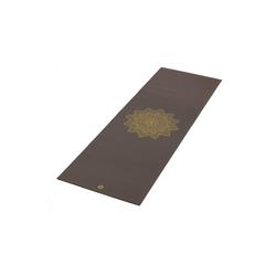 bodhi Yogamatte Yogamatte RISHIKESH Premium 60 mit goldenem Mandala taupe braun