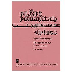 Rhapsodie H-Dur  Flöte und Klavier. Josef Gabriel Rheinberger  - Buch