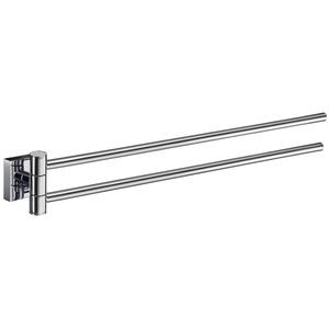 Smedbo House Schwenkbare Handtuchhalter Doppelt - RK326 | Chrom poliert | Länge 440 mm | Wandmodell | Original Smedbo Qualität | Lag. 1702109