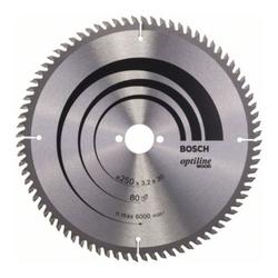 Bosch Kreissägeblatt Optiline Wood für Tischkreissägen 250 x 30 x 3,2 mm 80