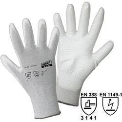 Worky L+D ESD Nylon/Carbon-PU 1171 Nylon Arbeitshandschuh Größe (Handschuhe): 7, S EN 388 , EN 114