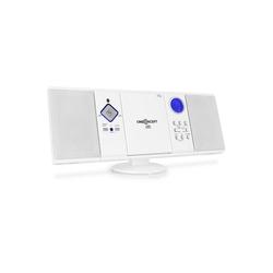 ONECONCEPT V-12-BT Bluetooth-Stereoanlage USB SD CD MP3 AUX UKW weiß Stereoanlage (UKW Radio, 0 W)
