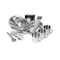 Black Snake Geschirr-Set BW (24-tlg), Teller Tasse Besteck Set