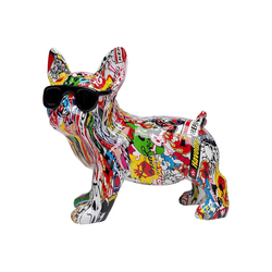 KARE Dekoobjekt Deko Figur Comic Dog Glasses