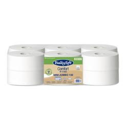 BulkySoft® Mini Jumbo Toilettenpapier, 2-lagig, weiß, Umweltfreundliches 100% recycling WC-Papier, 1 Packung = 12 Rollen à 130 m