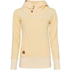 Ragwear Sweater LUCIE mit spirituellem Zierknopf-Besatz gelb L