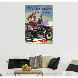 Posterlounge Wandbild, Premium-Poster Mit Zündapp über alle Berge 50 cm x 70 cm