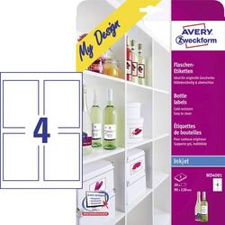 Avery-Zweckform MD4001 90 x 120mm Papier Weiß 20 St. Permanent Flaschenetiketten