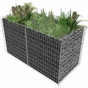 Gabione Pflanzenkorb 180x90x100 cm Steinkorb Blumenkasten Hochbeet Drahtkorb
