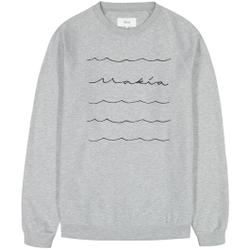 Makia - Waves Light Sweatshirt Light Grey - Sweatshirts - Größe: S