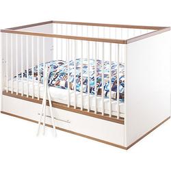 Kinderbett TUULA, Nussbaum/Weiß, 140 x 70 cm weiß Gr. 70 x 140