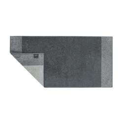 Cawö Handtuch Two-Tone in schiefer, 50 x 100 cm
