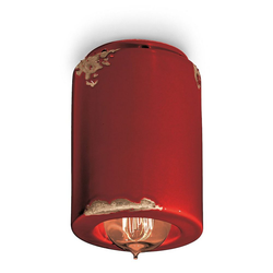 Ferroluce Deckenleuchte Vintage Ø 8,5cm rot