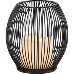 Home affaire Windlicht schwarz Lounge-Gartenmöbel Gartenmöbel Gartendeko Kerzenhalter
