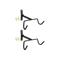 Wellgro Fahrradhalter 2x Wand Fahrradhalter - Stahl - Tragkraft bis 30 kg - Fahrradhalter - Fahrrad Ständer - Fahrradständer - Ständer