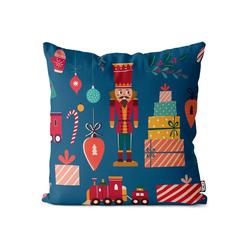 Kissenbezug, VOID (1 Stück), Nussknacker Geschenke Kissenbezug Nussknacker Geschenke Weihnachten Winter 80 cm x 80 cm