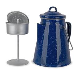 Anton Blöchl Emaille Kaffeekanne mit Perkolator