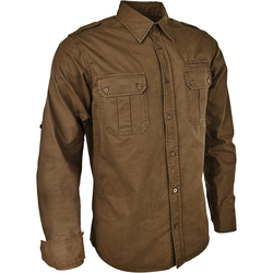 Blaser Outfits Hemd Twill Oliv (Größe: M)