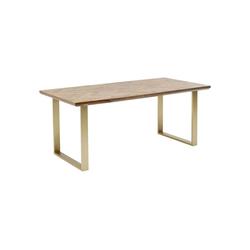 KARE Esstisch Tisch Parquet Messing 180x90