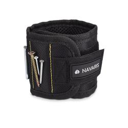 Navaris Armband, Magnetarmband für metallische Gegenstände - mit 5 starken Magneten - Magnetisches Armband für Schrauben Nägel Bits Nadeln