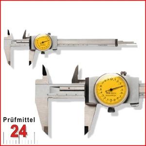 Uhren Messschieber 150 mm mit Feststellschraube, Ablesung: 0,02 mm