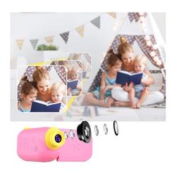 kueatily Kids Digitalkamera Spielzeug, Kleinkind Kamera Spielzeug, Stoßfeste Kamera mit 32 GB TF Karte, Geschenk Spielzeug für 3 bis 12 Jahre alte Jungen und Mädchen Kinderkamera rosa