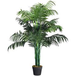 Kunstbaum Zimmerpflanze Deko, COSTWAY, Höhe 110 cm grün 110 cm