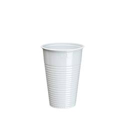 PAPSTAR 100 Trinkbecher Weißer Kunststoffbecher aus PS ( Polystyrol ).