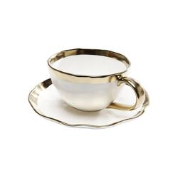 KARE Geschirr-Set Kaffeetasse Bell 2Set (15-tlg), Stein u. Keramik