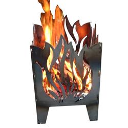 SvenskaV Flamme Feuerkorb Rohstahl 35,5x37,0x75 cm Hellgrau