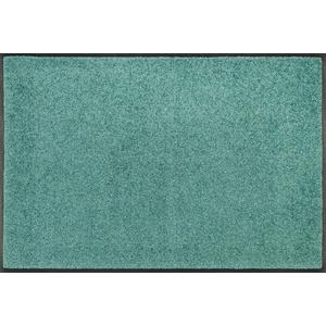 Fußmatte Trend Uni, wash+dry by Kleen-Tex, rechteckig, Höhe 7 mm, Fussabstreifer, Fussabtreter, Schmutzfangläufer, Schmutzfangmatte, Schmutzfangteppich, Schmutzmatte, Türmatte, Türvorleger, In- und Outdoor geeignet, waschbar grün 50 cm x 75 cm x 7 mm
