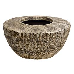 Dehner Übertopf Stef, bauchig, Ø 25 cm, Höhe 13.5 cm, Keramik