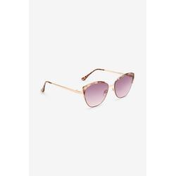 Next Sonnenbrille Cateye-Sonnenbrille mit Metallgestell braun