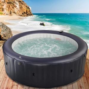 BRAST Whirlpool aufblasbar MSpa Muse Carlton für 6 Personen Ø204x70cm In-Outdoor Pool 125 Massagedrüsen Aufblasfunktion per Tastendruck