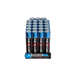 ANSMANN® Batterien AAA 24 Stück, Alkaline Micro Batterie, für Lichterkette uvm. Batterie