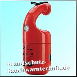Firephant Design Feuerlöscher Pulverfeuerlöscher 1kg rot