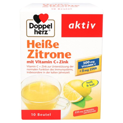 DOPPELHERZ heiße Zitrone Vitamin C+Zink Granulat 10 St