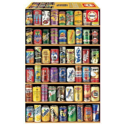 Carletto Puzzle Educa - Getränkedosen 1000 Teile Miniature Puzzle, Puzzleteile
